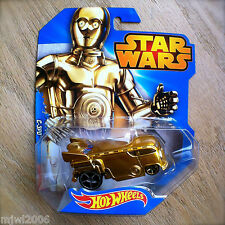 Disney STAR WARS Hot Wheels C-3PO #13 diecast Mattel Droid C3P0 INTL Shiny Clean