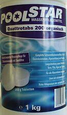 Poolstar Quattrotabs 200 organisch 1 kg Multi Pool Pflege Chlortabletten NEU