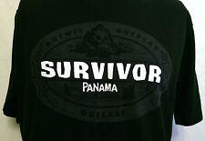 Survivor Panama Exile Island Black Shirt Size Large CBS Reality TV Show 2005