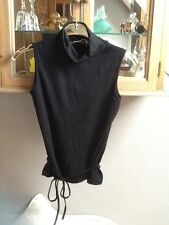 Dorothy Perkins black sleeveless roll neck with tie belt UK10