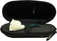 Imported Miniature Meerschaum Pipe - GRIM REAPER SKULL w/ Zippered Case