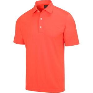 Greg Norman Mens Protek ML75 Microlux 2Below Polo Golf Shirt - New 2021