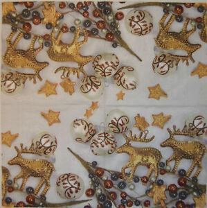 PAPER TABLE NAPKINS FOR CRAFT VINTAGE CHRISTMAS DECO DECOUPAGE TEA PARTIES 395