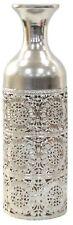 40cm Tall Silver Metal Flower Vase Perforated Vase Design Bottle Vase