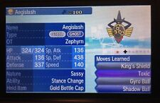 Pokemon Sun Moon Custom Shiny Aegislash 6IV Guide with a Gold Bottle Cap