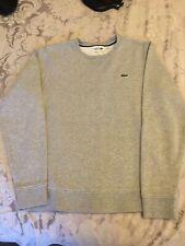 Mens Grey Lacoste Sweatshirt Jumper