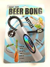 Head Rush Single Bottle Beer Bong Pocket Size Spring Break College BBQ Parties