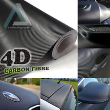 10x21cm Black Gloss 4D Carbon Fibre Vinyl Wrap High Quality Bubble Free 3M Glue