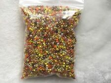 Wholesale 6800pcs Lot Bulk 11/0 Glass Seed Bead 100g Orange Yellow & Beige Mix