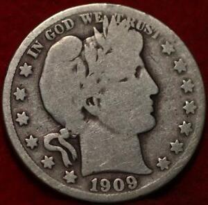 1909-S San Francisco Mint Silver Barber Half Dollar