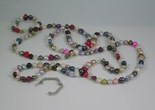 Multicoloured Long Pearl Necklace