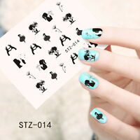 Nail Art Water Transfers Decals Stickers Love Dandelions Girl Ballet Gel (S014)