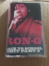 DJ RON G Back To School SHH Pt.2 NYC Cassette Mixtape 90s Hip Hop