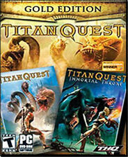 TITAN QUEST GOLD + Immortal Throne   PC Role Playing Game   Brand New