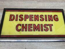 More details for vintage advertising sign dispensing chemist