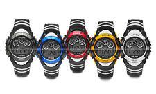 OHSEN Mens Teen Student 7 Mode Light Sport Date Day Digital Quartz Wrist Watches