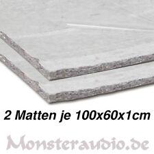2 x CHP Dämmvlies 100x60cm 1,2m² selbstklebend 10mm dick KFZ Schalldämmung PKW