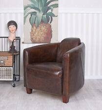Sessel Clubsessel Art Deco Loungesessel echt Leder Cocktailsessel Ledersessel