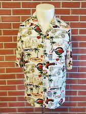 ESPN Sportscenter X-Games Short Sleeve Button Front Rayon Shirt Mens Medium EUC