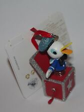 Disney Store Donald Duck Hanging Ornament Christmas decoration Jack in the box