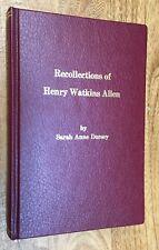 Louisiana, Henry Watkins Allen, Governor, Biography, History, Civil War