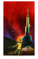 """""""The Many Worlds of Barry Malzberg"""" signed fine art print by Jack Faragasso."""