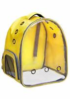 Transparent Cat & Small Dog Puppy Kitty Carriers for Breathable Backpack Yellow