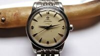 Omega ref: C2577-2  vintage watch bumper automatic linnen dial beads of rice
