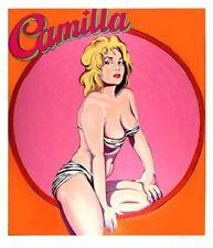 Mel Ramos - Camilla - 1990, Pop Art Grafik Serigrafie, Luxus