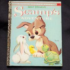 Scamp's Adventure Vintage Little Golden Book 1958 A Edition Annie North Bedford