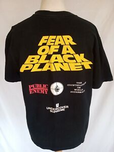 SUPREME UNDERCOVER X PUBLIC ENEMY XL T SHIRT FEAR OF A BLACK PLANET REAR PRINT