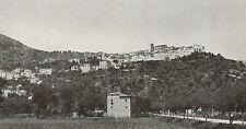 D1722 Latina - Monte San Biagio - Panorama - Stampa antica - 1934 old print