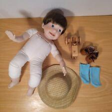 Danbury Mint Porcelain Doll Farmer Steve Damaged - For Parts Only Elke Hutchens