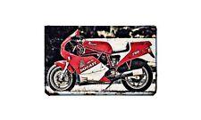 Ducati 750 F1 Laguna Seca Motorbike Sign Metal Retro Aged Aluminium Bike