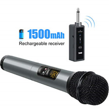 TONOR UHF Wireless Microphone Handheld Mic with Bluetooth Receiver 1/4 Output