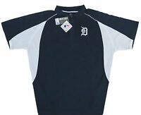 Detroit Tigers MLB Majestic Men's Navy Golf Polo Shirt Big & Tall Sizes