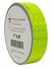 Fluorescent Yellow Green Reflective Tape Conspiciuity Safety Night 1