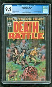 CGC 9.2 DEATH RATTLE #V2 #8 KITCHEN SINK PRESS 1986 1ST APPEARANCE XENOZOIC TALE