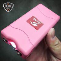 CHEETAH PINK 90 MV Mini Rechargeable LED LIGHT Police Stun Gun + Taser Case NEW