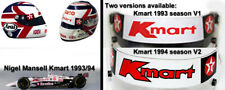 Visor Sticker fit Nigel Mansell F1 Helmet Curved with two versions available