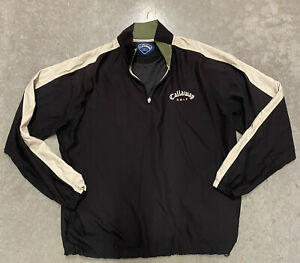 Callaway Windbreaker Golf Pullover - 1/4 Zip - Black - Men's Sz Large