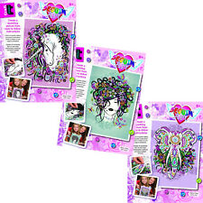 Sequin Art Craft Teen 3 Individual Craft Kits - Unicorn, Flower Girl & Elephant