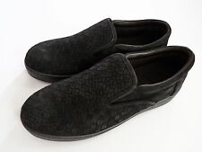 NEW BOTTEGA VENETA Gray Suede Woven Loafers Shoes Sneakers Size 11 US 44 Euro