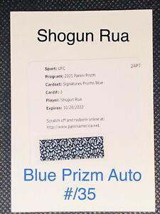SHOGUN RUA 2021 Panini Prizm UFC ⚡️ Premier BLUE PRIZM AUTO Redemption #/35
