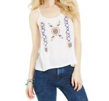 American Rag Juniors' Embroidered Tank Top, White, Small S