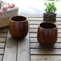 main primitive tasse en bois petit déjeuner bière tasse de thé au lait nouveau