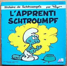Livre-disque vinyle 45t L'APPRENTI SCHTROUMPF de PEYO raconté par DOROTHEE, 1983