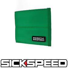 SICKSPEED WALLET SEAT BELT SEATBELT PAD RACING HARNESS BIFOLD BILLFOLD GREEN