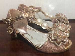 SHORLELAR Sparkly Dressy Shoes With Heel Toddler Girl Size 10