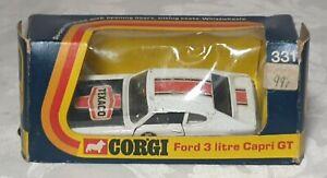 Used Corgi 331 Ford 3 litre Capri GT In Original (poor condition) Box
